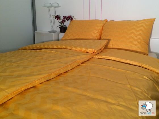 Posteľné obliečky: Oranžové vlnovky