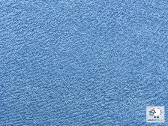 Plachta froté modrá