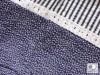 Posteľné obliečky: Tmavomodré kvietky a prúžky s čipkou