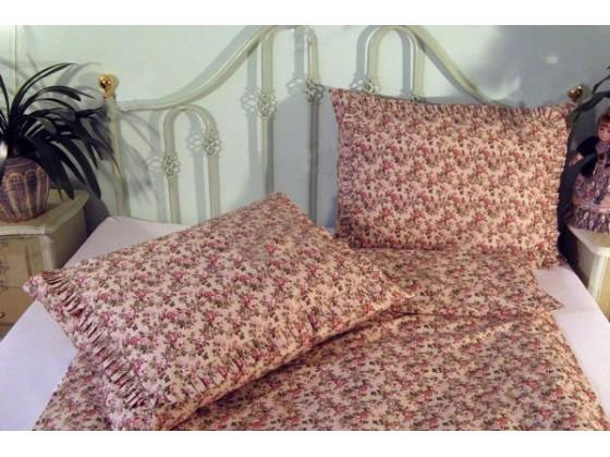 Bavlnené posteľné obliečky: Staroanglická ružička s volánom