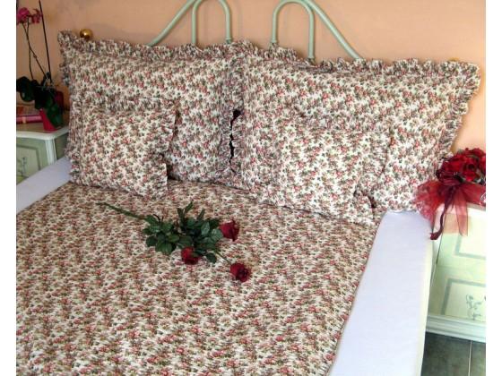 Posteľné obliečky: Staroanglická ružička s volánom