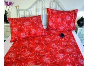 Posteľné obliečky: Červeno-biele kvety