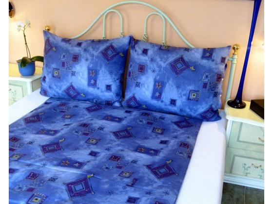 Posteľné obliečky: Modré kosoštvorce