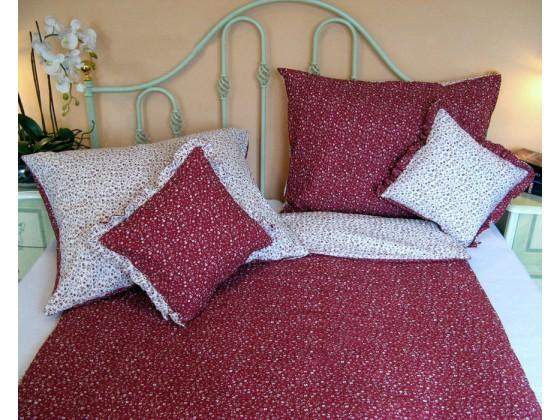 Krepové posteľné obliečky: Červené kvietky