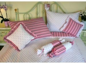 Bavlnené posteľné obliečky: Ružová nezábudka