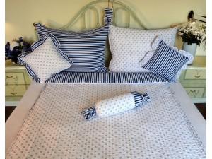 Bavlnené posteľné obliečky: Modrá nezábudka