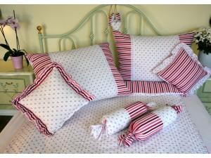 Bavlnené posteľné obliečky: Ružová nezábudka s čipkou