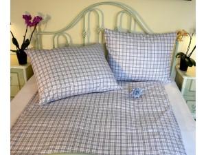 Bavlnené posteľné obliečky: Modré káro