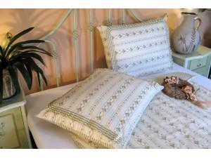 Bavlnené posteľné obliečky: Staročeské venčeky s volánom
