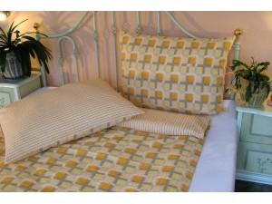 Bavlnené posteľné obliečky: Oranžové kocky