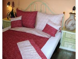 Bavlnené posteľné obliečky: Červené kvietky