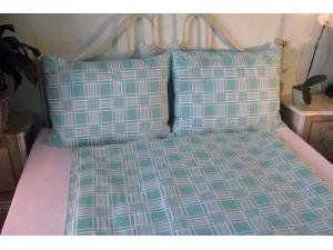 Bavlnené posteľné obliečky: Zelené káro